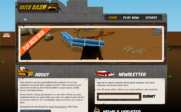 Dozer Dash website
