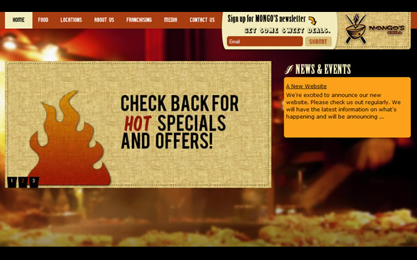 Mongo's Grill website